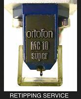 Ortofon non-SPU Moving Coil Cartridge Bonded  Elliptical Retip SERVICE