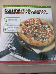 "Cuisinart 3 Piece Pizza Grilling Pack w/ 13"" Cordierite Stone, Peel & Cutter NIB"