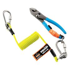 Ergodyne Squids 3130 Lime Coiled Cable Lanyard, 2Lb
