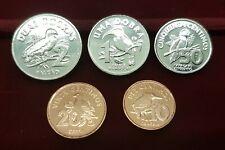 B-D-M Santo Tomé y Principe Set 5 monedas 10 20 50 Cents 1 2 Dobras 2017 SC UNC