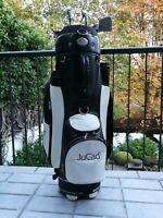 JuCad Golfbag Golf Bag Tragebag Cartbag schwarz/weiss