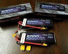 2 GENS ACE 5000 3S 11.1 50C SHORT XT 60  LIPO BATTERY TRAXXAS XMAXX LECTRON HPI