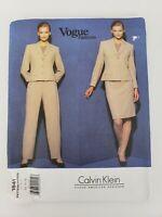 Vogue 1841 Calvin Klein Designer Jacket Skirt Pants Sewing Pattern Size 14 16 18