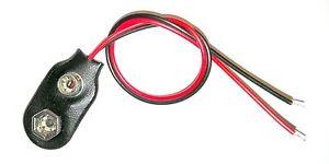 Batterieclip f. 9V Block Batterie Druckknopfanschluss I-Form Anschlußkabel 150mm