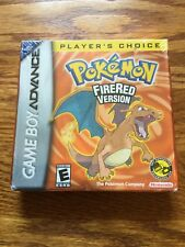NEW Pokemon: FireRed Version Nintendo Game Boy Advance GBA Factory Sealed!