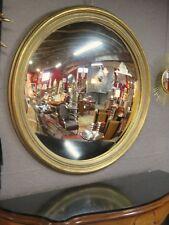"""Glace / miroir doré patiné """"oeil de sorcière"""" Diamètre 124 cm"""