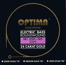 Optima/Maxima  24 K Gold Bass Strings 50-105
