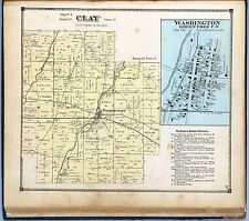 1874 Wayne County Pennsylvania maps old plats Genealogy Atlas Land Owner Dvd P46