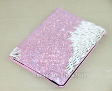 Handmade Super Bling Austria Diamond Crystal Smart Cover Leather Case For iPad