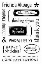 HERO ARTS RUBBER STAMPS CLEAR MESSAGES STAMP SET