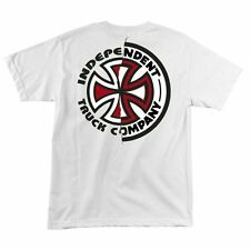 Independent Trucks RIPPED BC Skateboard T Shirt WHITE MED
