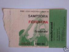 SAMPDORIA - FIORENTINA BIGLIETTO TICKET 1985 / 86