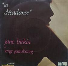 "7"" 1969 I Jane Birkin & Serge Gainsbourg: La Decadanse"