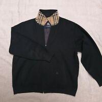 Burberry London jacket sweater Merino Wool Men's Nova Check Size 6/L