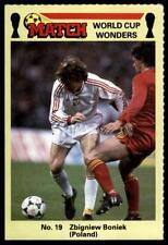Match World Cup Wonders 1986 - Zbigniew Boniek (Poland) No. 19
