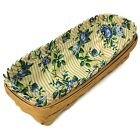 Longaberger Cracker Basket with Floral Fabric Liner Signed Year 1998 EUC