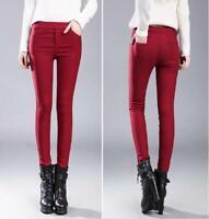 Women's Winter Warm Slim Leggings Thick Stretch Pencil Pants Trousers Long Pants