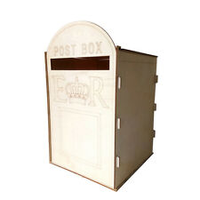 DIY Wooden Wedding Mailbox Post Box with Lock Rustic Hollow Gift Card A8R1