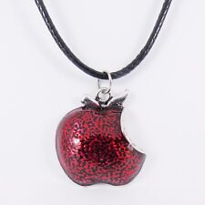 POISON APPLE NECKLACE evil queen villains snow white vintage emo witch enamel