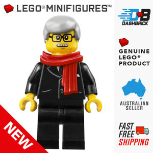 Genuine LEGO® Minifigures™ - Mayor, Red Scarf, Black Suit (City/Town) - NEW