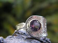 Amethyst & 925 Silver Ring (Size 7 1/2 - 9, O 1/2 - R 1/2 Adjustable) #255746