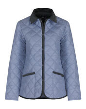 LAVENHAM WOMEN'S MADE IN ENGLAND RAYDON QUILTED JACKET WATER FOUNTAIN SIZE 6