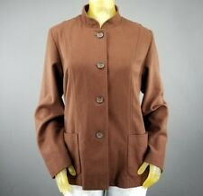White Stag Brown Wool Blend Juniors Coat Size Large 12/14 Girls Winter New D1