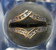 .50ct Ladies 14k Yellow Gold Diamond Ring Guard Jacket sz 8.25 fits 2.5mm shank