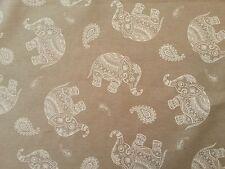 CGF Jaipur Teflón Beige Tela Indio Elefante Mantel Delantal Hule