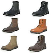 Mens Fashion Ankle Boots Side Zip Chelsea Boots Motorcycle Combat Boots US6.5-15