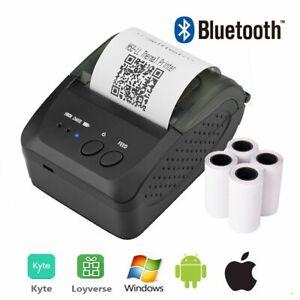 Portable Bluetooth Printer Wireless Thermal Receipt Ticket 58mm Bill Machine