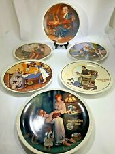 Vintage Six Norman Rockwell Mother Day Collectors Plates 79,80,82,83,90,91