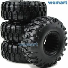 4pc RC 1.9 Rock Crawler Tires 108mm For 1:10 RC 4WD Axial 1.9 Beadlock alloy Rim