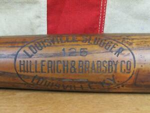 "Vintage 1920s Louisville Slugger H&B Wood 125 Baseball Bat Long Name Brand 35"""