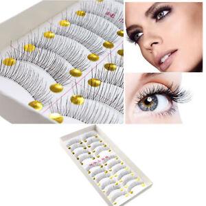 New 10 pairs Soft Eyelashes False Lashes Natural Handmade Makeup Glam Lash