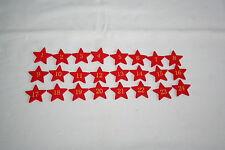 1 - 24 Holz Zahlen Holzzahlen Adventskalender rot Sterne Streuteile Weihnachten