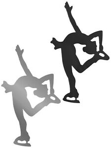 A&R Figure Skater Silhouette Magnet & Decal! 2 in 1 bumper sticker girl skating