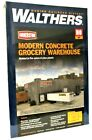 HO Scale Walthers Cornerstone 933-4105 Modern Concrete Grocery Warehouse Kit