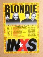 More details for blondie / inxs original vintage promotional tour flyer 2002