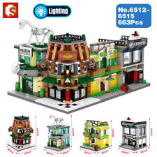Sembo City Street Museum Bar Apartment Express Blocks Diamond Building Toy 4Pcs