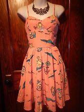 NANETTE LEPORE L'Amour Adventurer peplum dress rockabilly print Pin-Up swing 1/2
