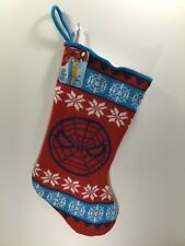 MARVEL SPIDER-MAN Red and Blue Holiday Christmas Stocking NEW SPIDERMAN WEB