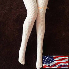 "1/6 Scale Sexy Fishnet Stockings WHITE For 12"" Phicen Hot Toys Female Figure USA"