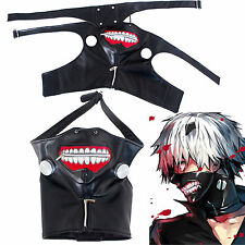 Tokyo Ghoul Kaneki Ken Adjustable Costume Mask Cosplay Halloween PU Leather New