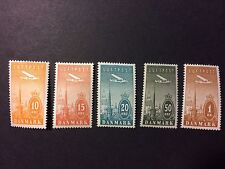 Denmark Towers of Copenhagen Airmail Airplane Set MNH