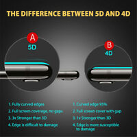 For Phone 7 8 Plus -5D Full Cover Curved Tempered Glass Screen Protector S&K