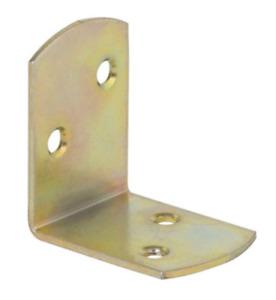 KO1 40x40x30x18mm  Strongest Yellow Galvanised Corner Brace Timber Joints