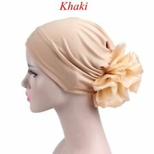 e10da9a93b4 Hair Loss Cancer Muslim Head Scarf Turban Flower Cap Chemo Hat Accessories
