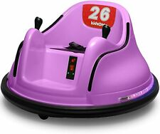 Kids ASTM-Certified Electric 6V Ride Bumper Car W/Remote Control 360 Spin~Purple