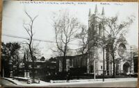 Oak Park, IL 1910 Realphoto Postcard: Congregational Church - Illinois Ill